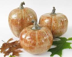 ceramic pumpkins set of pumpkins ceramic pumpkins handmade pumpkins fall