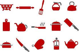 dessin ustensile de cuisine decoration de noel pour professionnel 5 ustensiles de cuisine