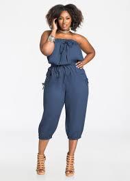 strapless denim jumpsuit plus size dresses strapless cargo pocket jumpsuit