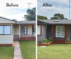 House Makeovers This Achievable Exterior Makeover Proves A Basic Suburban Home