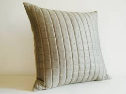 quilted linen and silk blended pillow quilted cushion discovered
