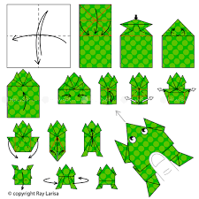 frog origami frog animated origami instructions how to make