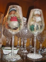 decoupage christmas glasses by stella decoupage glass ceramic