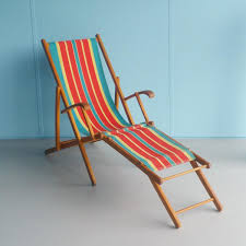 Vintage Outdoor Folding Chairs Vintage Folding Wooden Beach Chair 1960s For Sale At Pamono