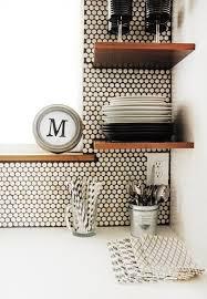 Penny Tile Kitchen Backsplash by Best 10 Penny Wall Ideas On Pinterest Penny Backsplash