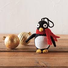 penguin ornament knitting patterns and crochet patterns from