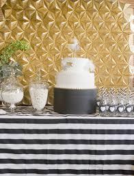 gold black u0026 white baby shower ruffled