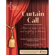 Curtain Band Plano Community Band Presents