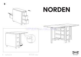 ikea tables norden gateleg table 10 35 60x32