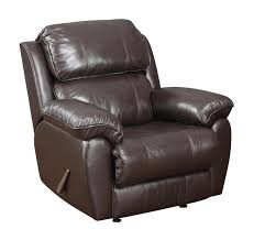leather rocker recliner chocolate leather u0026 vinyl brown u0026 top