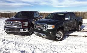 truck gmc maniacal mashup ford f 150 5 0l v8 vs gmc canyon 2 8l duramax