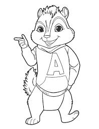 alvin chipmunks coloring pages alvin seville coloringstar