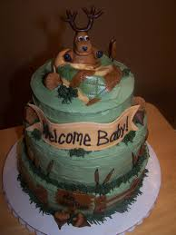 baby shower deer theme deer hunting baby shower cake with