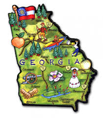 Usa States And Capitals Map by Georgia State Maps Usa Maps Of Georgia Ga Index Of Georgia Us