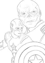 captain america coloring pages captain america red skull