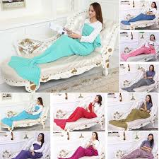 2017 new mermaid tail blanket cocoon mattress knit sofa