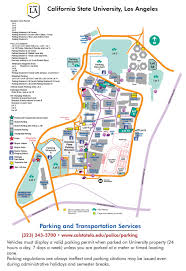 Ucla Parking Map Cal State Los Angeles Map Afputra Com