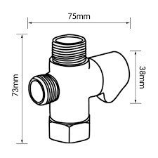 Bidet T Adapter Kes Solid Brass T Adapter With Shut Off Valve 3 Way Tee Connector