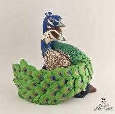 peacock wedding cake topper bird wedding cake toppers my custom cake topper