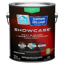 shop hgtv home by sherwin williams showcase white satin latex