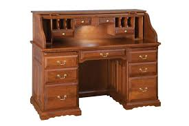 Amish Home Decor Deluxe Roll Top Desk