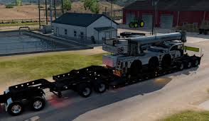 offroad trailer oversized trailer magnitude 55l with cargo off road crane mod