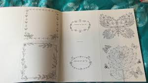 the colouring book of cards and envelopes flowers and