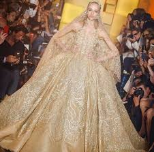 gold wedding dress wedding gown gold color