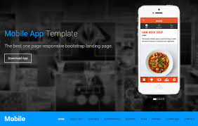 mobile app free one page responsive html5 landing page