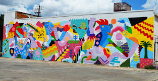 houston street art to see happy beach wall