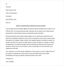 14 restaurant and hotel complaint letter templates u2013 free sample
