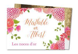 poeme 50 ans de mariage noces d or carte anniversaire de mariage noces d or florales planet cards