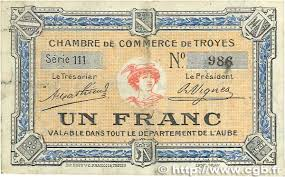 chambre de commerce troyes 1 franc regionalism and miscellaneous troyes 1918 jp 124 08