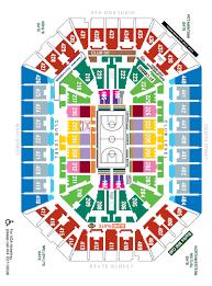 Metro Arena Floor Plan by Seating Maps Milwaukee Bucks