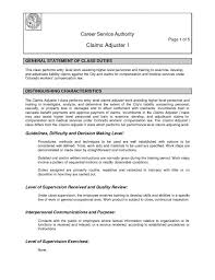 Insurance Resume Examples by Breathtaking Claims Adjuster Resume 10 Insurance Resume Example