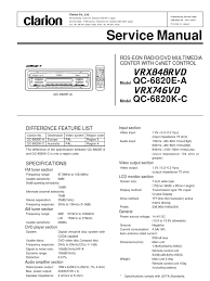 clarion vrx848rvd vrx746vd service manual electrical connector
