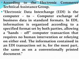 edi edi is the electronic exchange of business documents in a