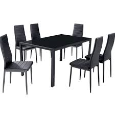 furniture modern glass dining table set in dining model homes