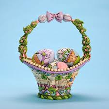 jim shore easter baskets easter basket jim shore at treasures