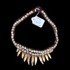 tooth necklace images Crocodile tooth necklace collectible tribal artifacts jpeg