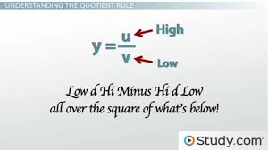 when to use the quotient rule for differentiation video u0026 lesson