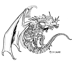 scary dragon printable coloring coloring