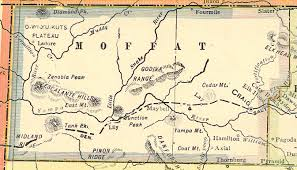 Colorado County Map by Moffat County Colorado Genealogy Census Vital Records