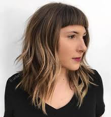 lob haircut with bangs 20 modern ways to style a long bob with bangs