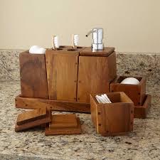 Teak Bathroom Furniture Teak 5 Piece Bathroom Set Bathroom