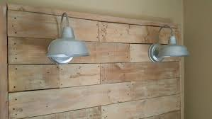 Headboards Made With Pallets Giant Pallet Headboard With Lights