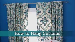 how to hang curtains youtube