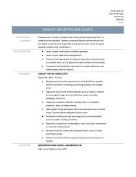 Machine Operator Job Description Forklift Resume Sample Resume Samples And Resume Help