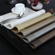 elegant waterproof table placemats prevent your table from