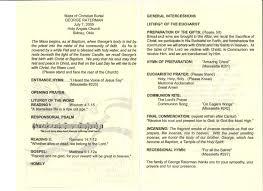 wedding mass program template memorial mass program europe tripsleep co